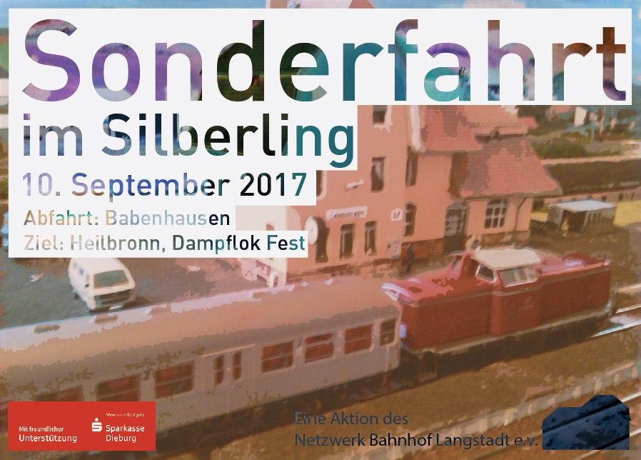 Netzwerk Bahnhof Langstadt - Flyer Sonderfahrt - Vorderseite